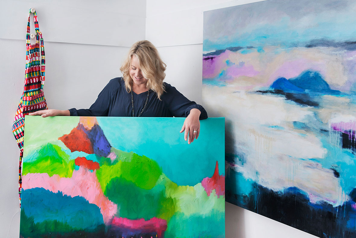 Tracey in her studio