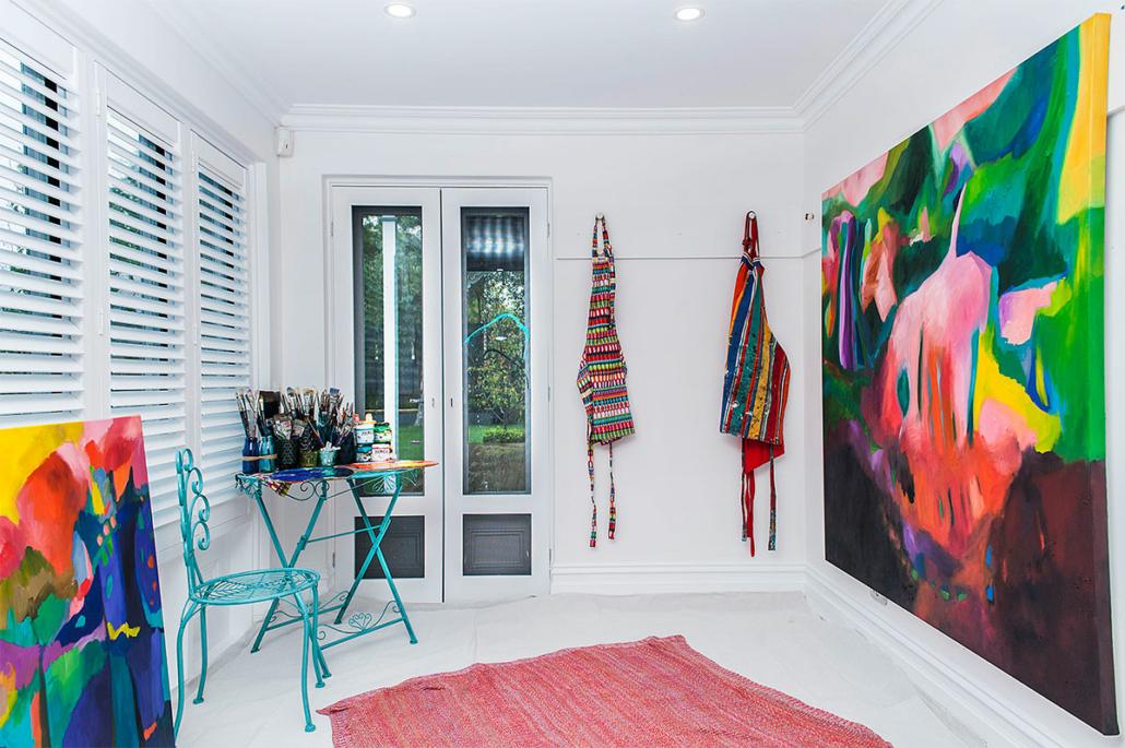 Tracey Harvey's studio