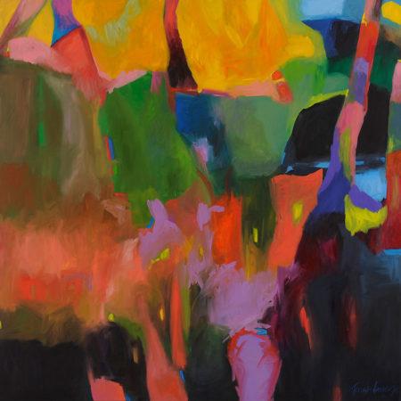 Sundance Gorge 158x158cm acrylic on canvas