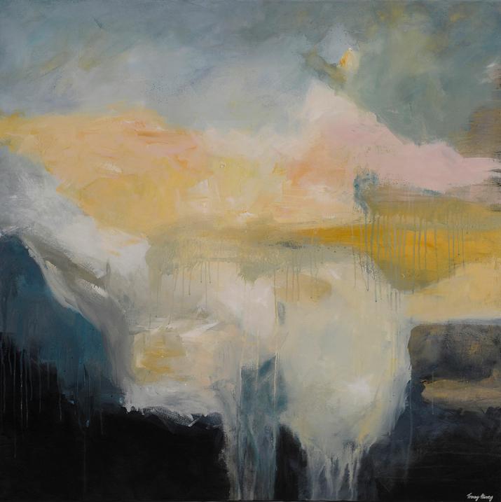 Breaking Rain 100x100cm acrylic on canvas