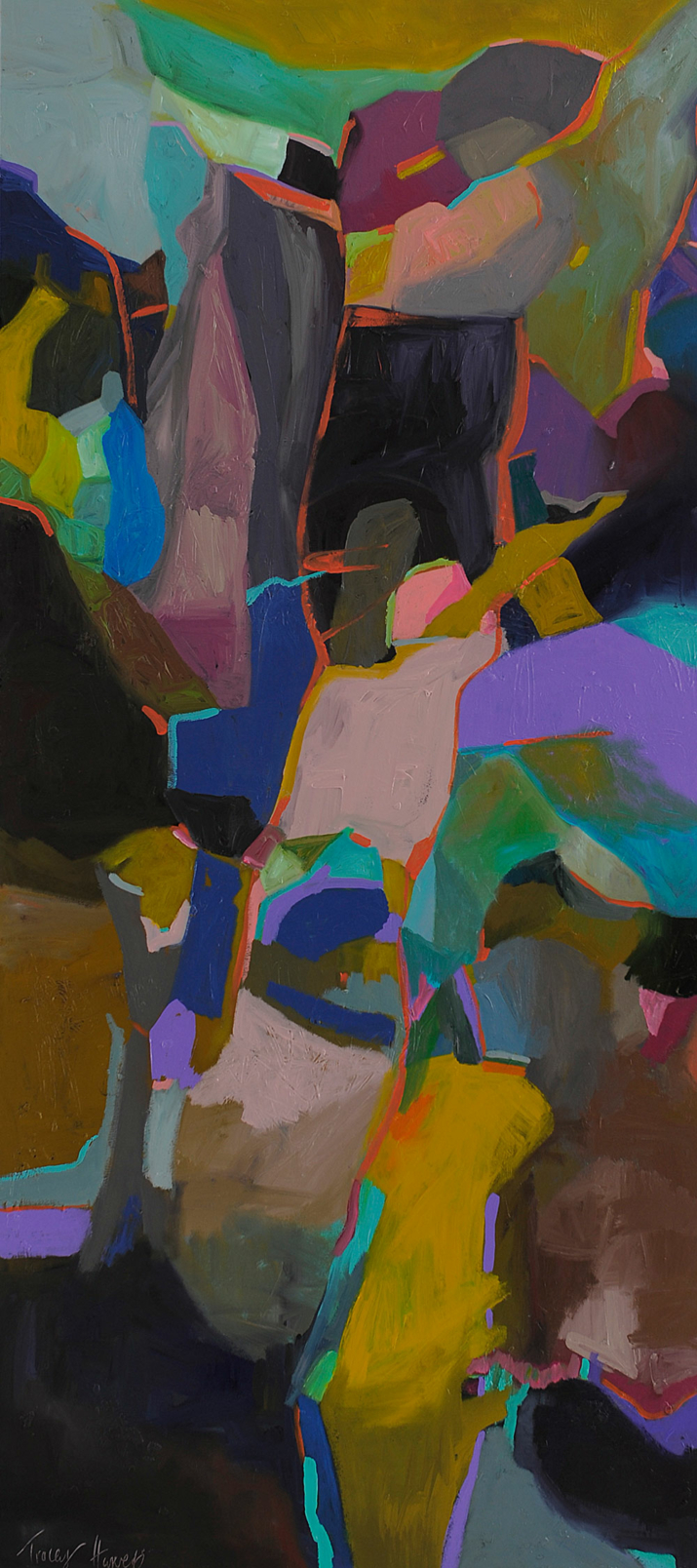 Raw Formation 183x81cm acrylic and eggshell on canvas