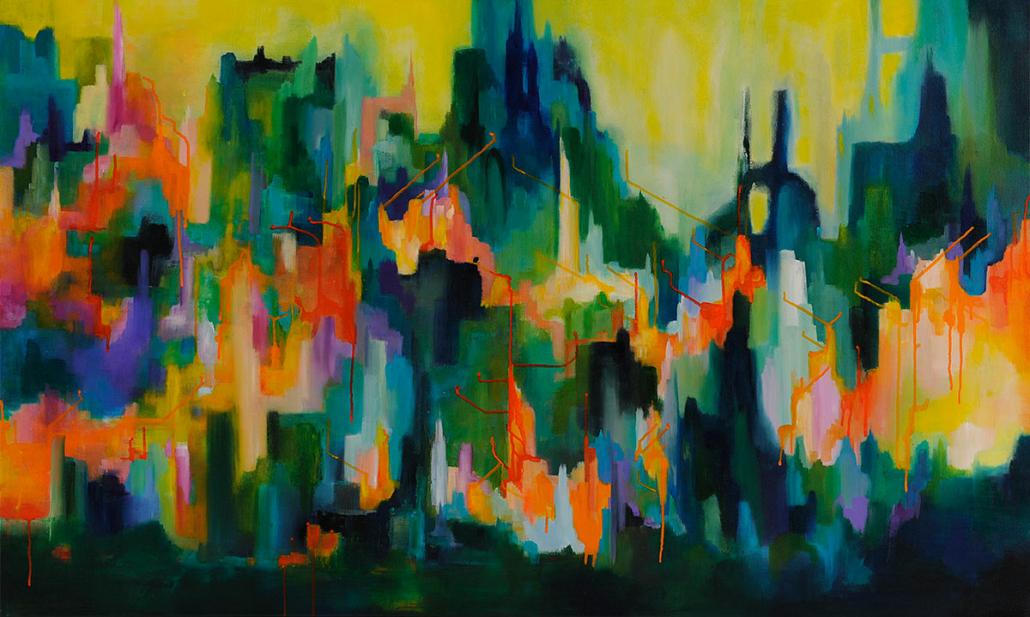 Urban Fringe 90x150cm acrylic on canvas