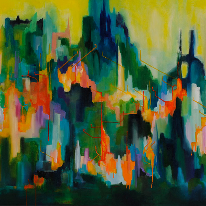 Urban Fringe 90x150cm acrylic on canvas