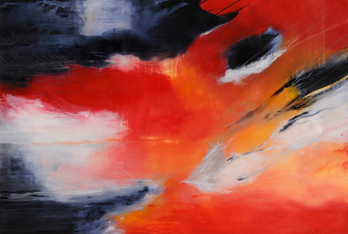 Ablaze 100x150cm acrylic on canvas