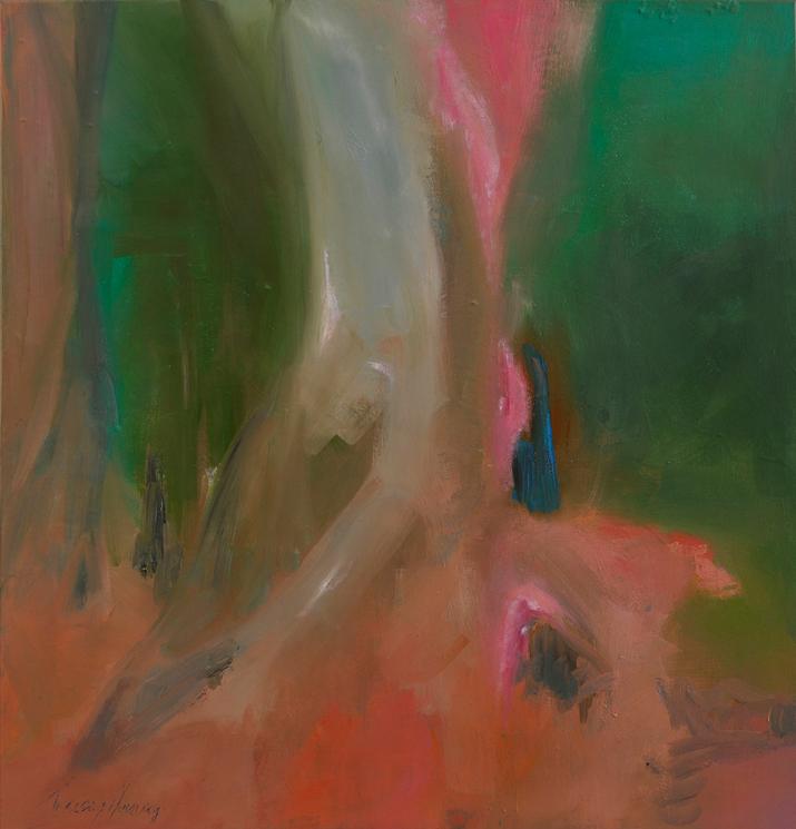 Colour Run 75x75cm acrylic on canvas