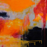 Tequila Sunrise 75x75cm acrylic on canvas