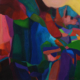 Majestic 2017 acrylic on canvas, 100 x 100cm