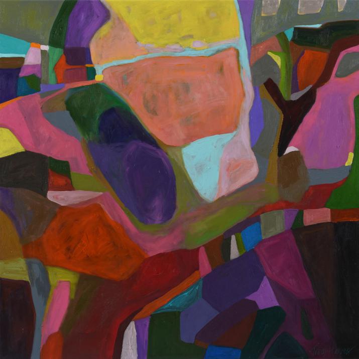 Spellbound 2017, acrylic on canvas, 80 x 80cm