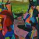 Sleepy Hollow 2017, acrylic on canvas, 80 x 80cm