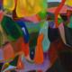 Bunyip Country 2017, acrylic on canvas, 80 x 80cm