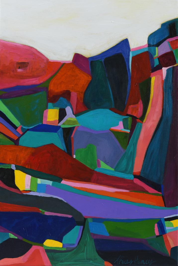 Cliff Hanger 2017 acrylic on canvas, 60 x 40cm