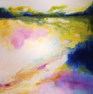 Salt Lake Shimmer, 50x50cm, acrylic on canvas