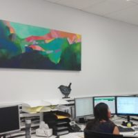 Photo of my painting in the Nexia office