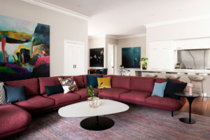Colour: Art by Tracey Harvey; Furniture by Mobilia