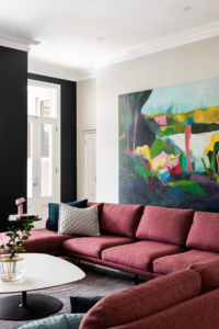 Colour: Art by Tracey Harvey; furnishings by Mobilia
